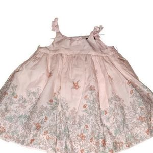 Baby girls pink and floral dress